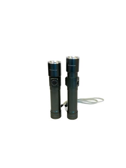 LED Zaklamp grijs mini oplaadbaar – LichtDonker