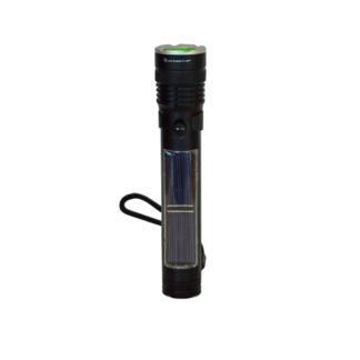 LED Zaklamp zwart oplaadbaar Midi Powerbank– LichtDonker